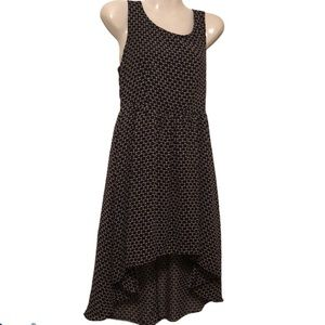 miami women's dress high low fit flare S